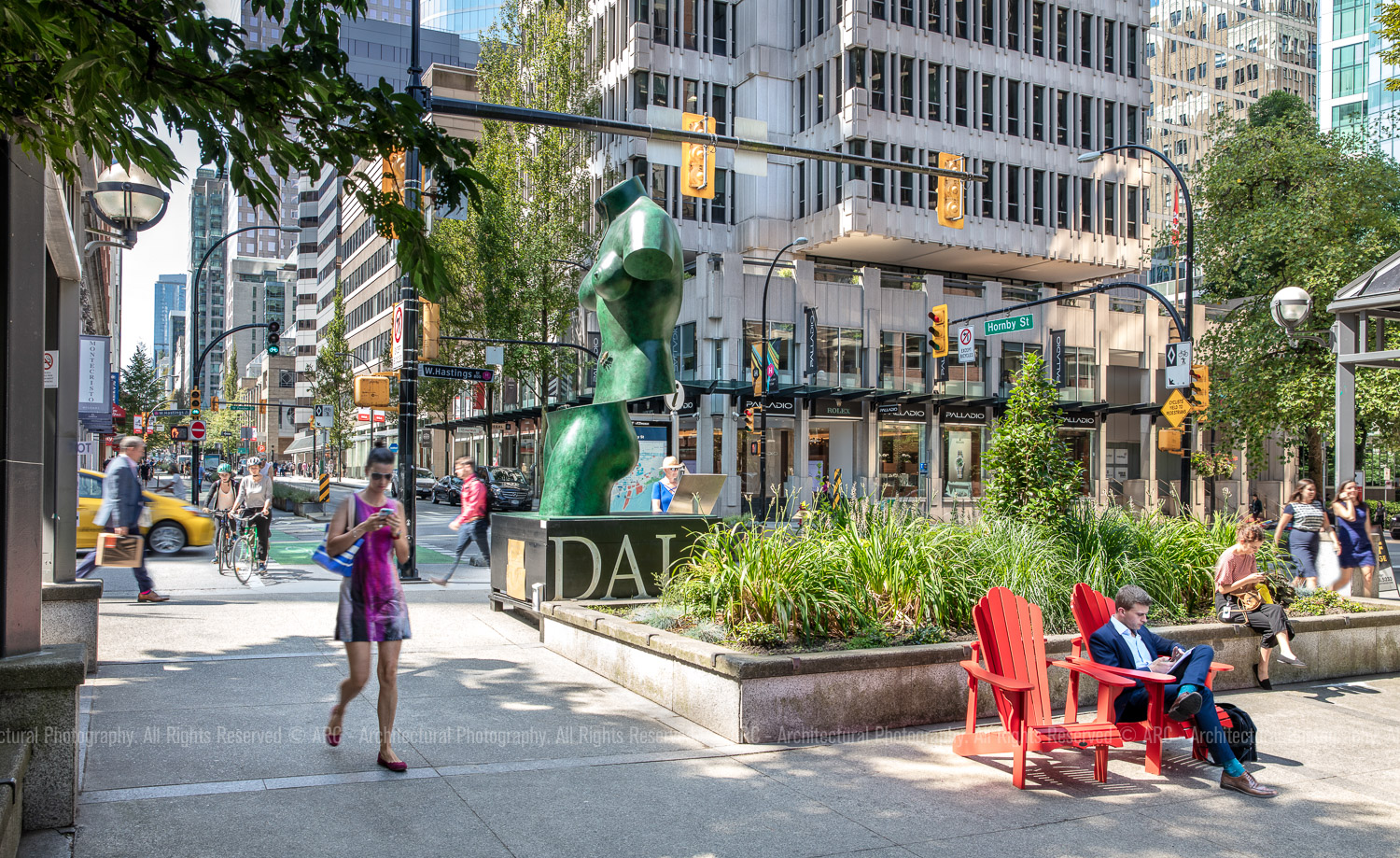 Downtown Vancouver Courtyard near Commercial Property